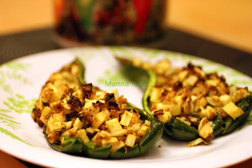 Cajun-Apple Stuffed Poblano Peppers