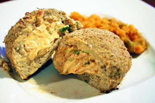 Chili Pepper and Cream Cheese Stuffed Chicken