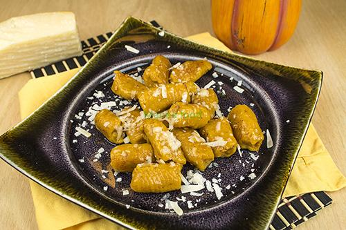 Pumpkin Gnocchi recipe with aji panca chili pepper