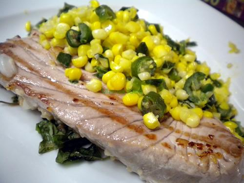 Seared Serrano and Jalapeno Corn Salsa