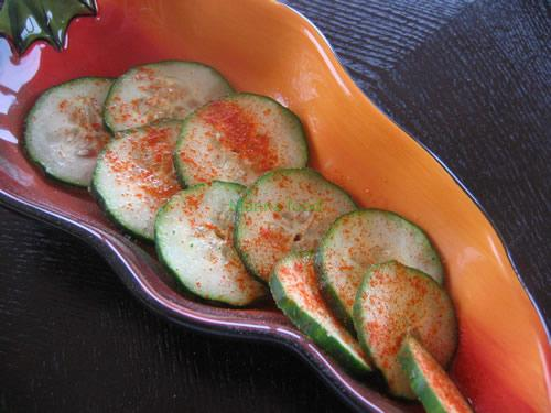 A very simple recipe-Chili and Lime Cucumbers
