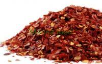 Red chili flakes with seeds